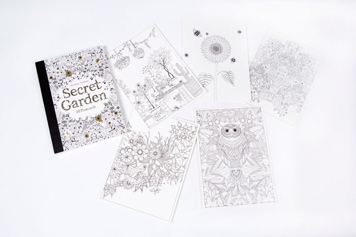 Secret Garden Postcards By Johanna Basford Contains Perforated Pull Out And Keep For You To