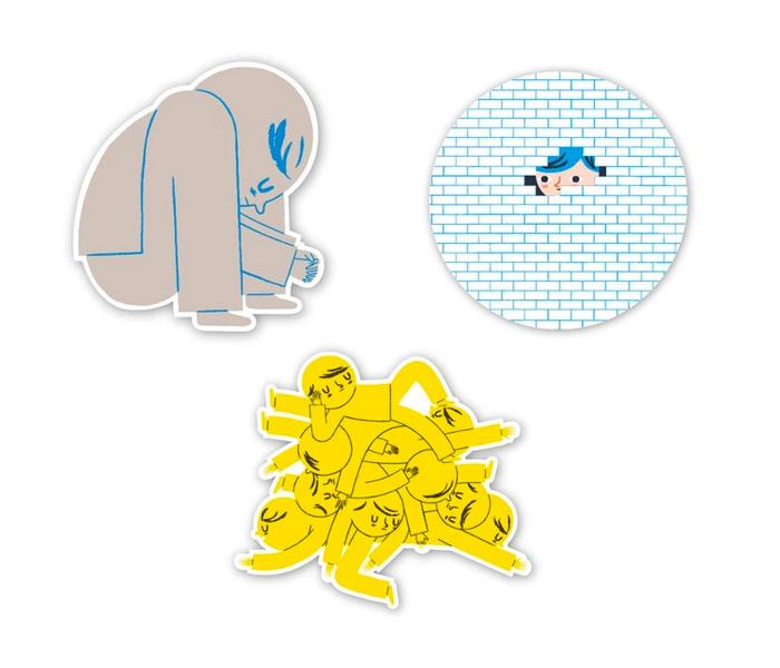 Sticker set designed by Ben Javens