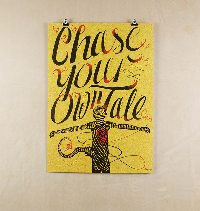 'Chase Your Own Tale' poster designed by