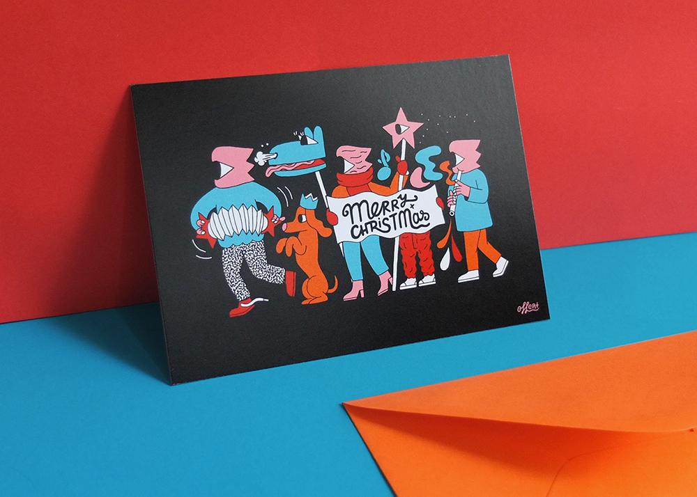 Christmas postcards designed by Kinga Offert