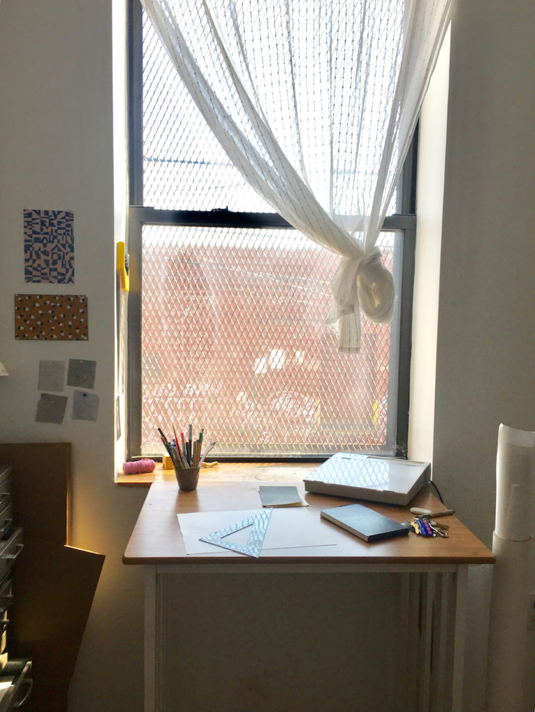 Caitlin's Brooklyn studio in New York.