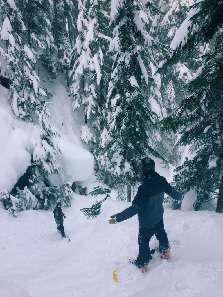 Alex Fowkes snowboarding in Vancouver
