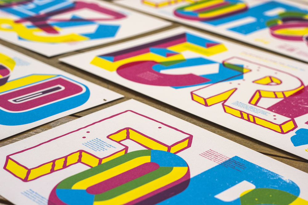 'FORWARD' designed by our Glug Brum speakers & printed by White Duck Editions