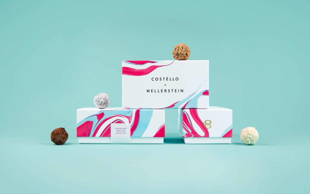 Packaging design for Costello + Hellerstein