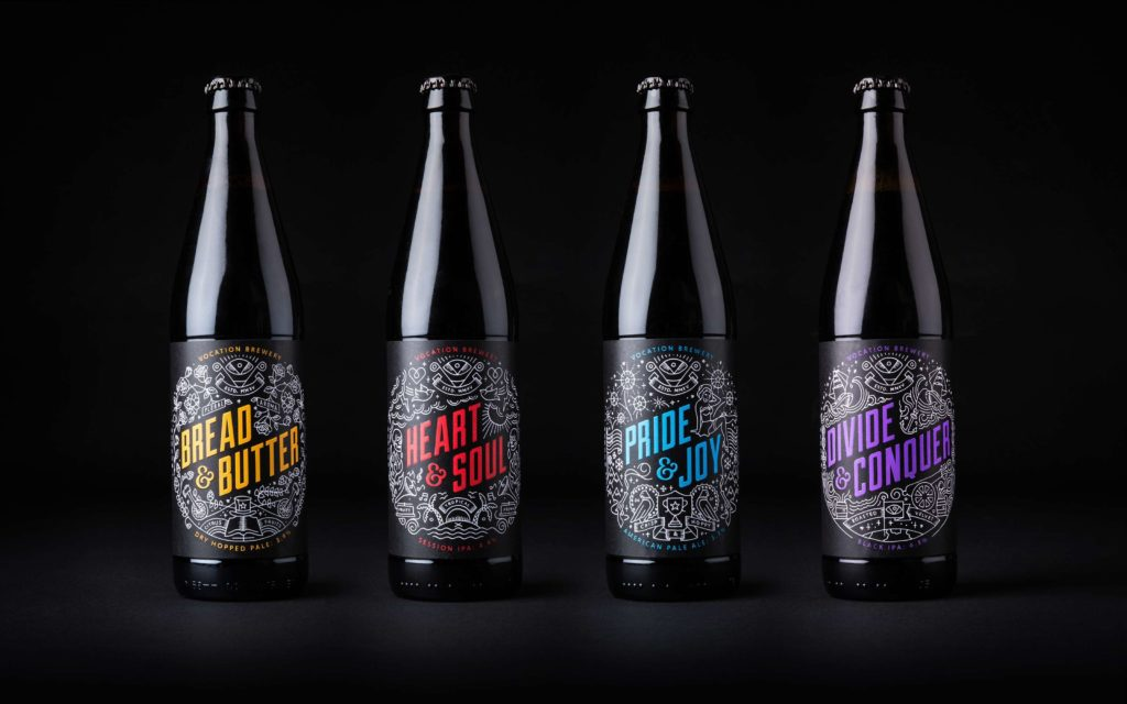 Brand design for Vocation Brewery