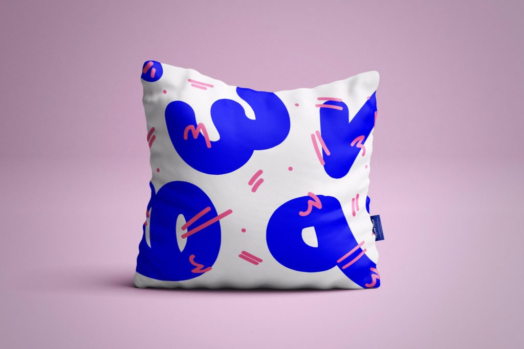 Pillow Talk, Saliah Bryan, design, interior design, graphic design, pattern, colour, charity, textiles