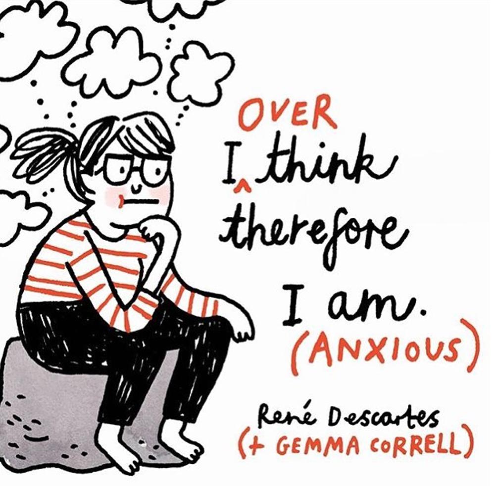 mental health, column, art school, anxiety, education, design, creativity, travelling, illustration, Gemma Correll