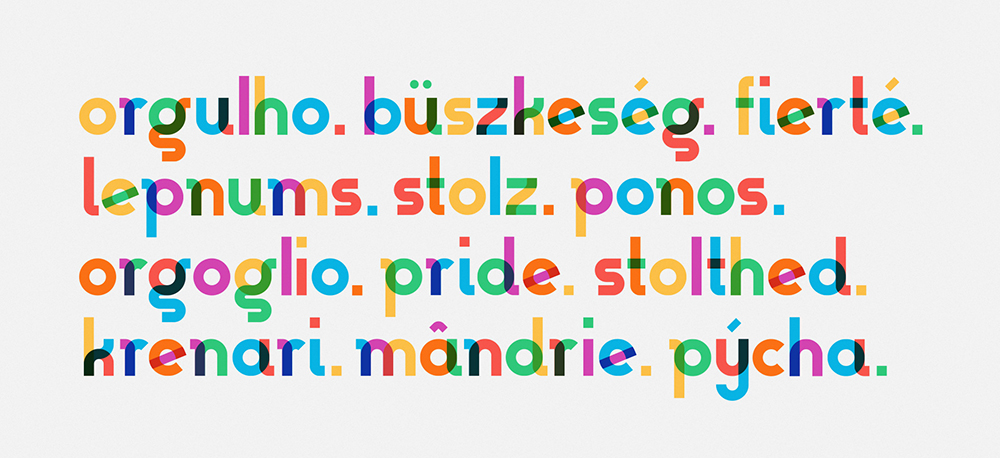 Gilbert Baker, pride, graphic design, typography, rainbow, design