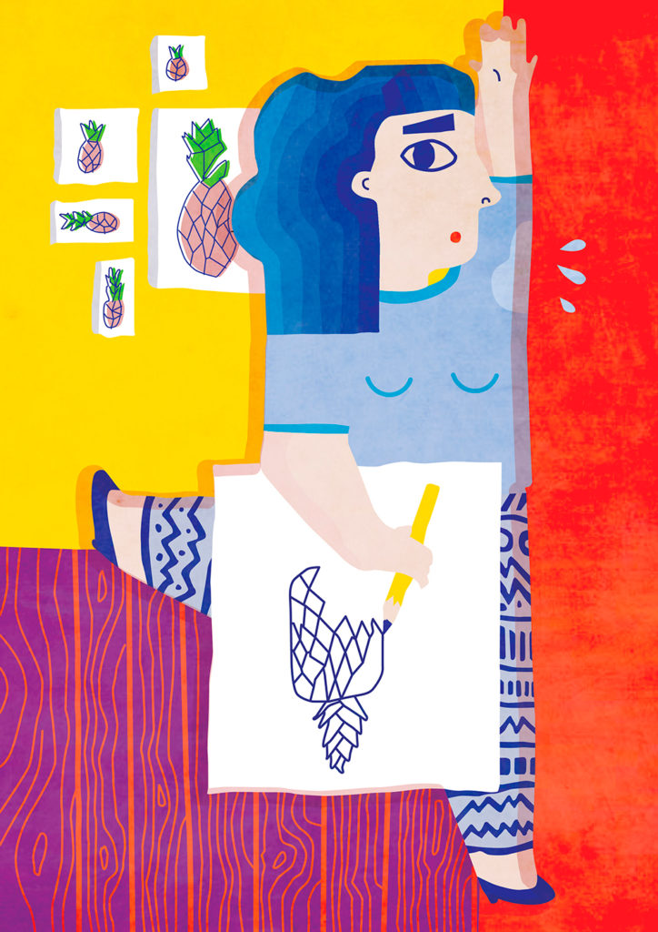 romanian illustrator andreea dobrin dinu shares her typical working