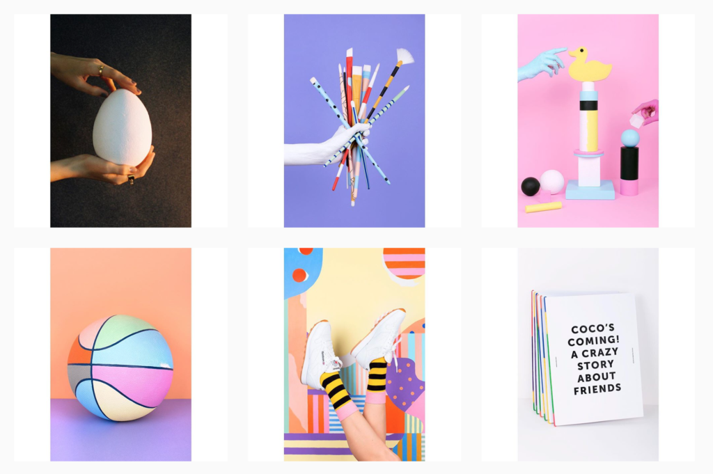 Instagram, design, art direction, photography, colour, Cocolia, art